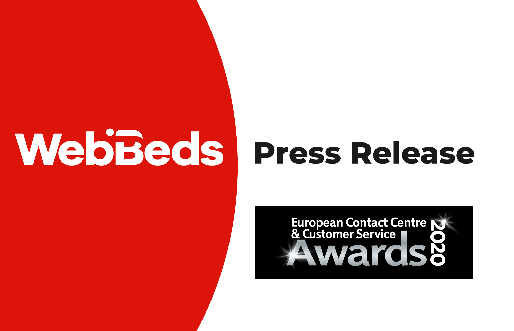 WebBeds announced as a Finalists in European Contact Centre & Customer Service Awards 2020.