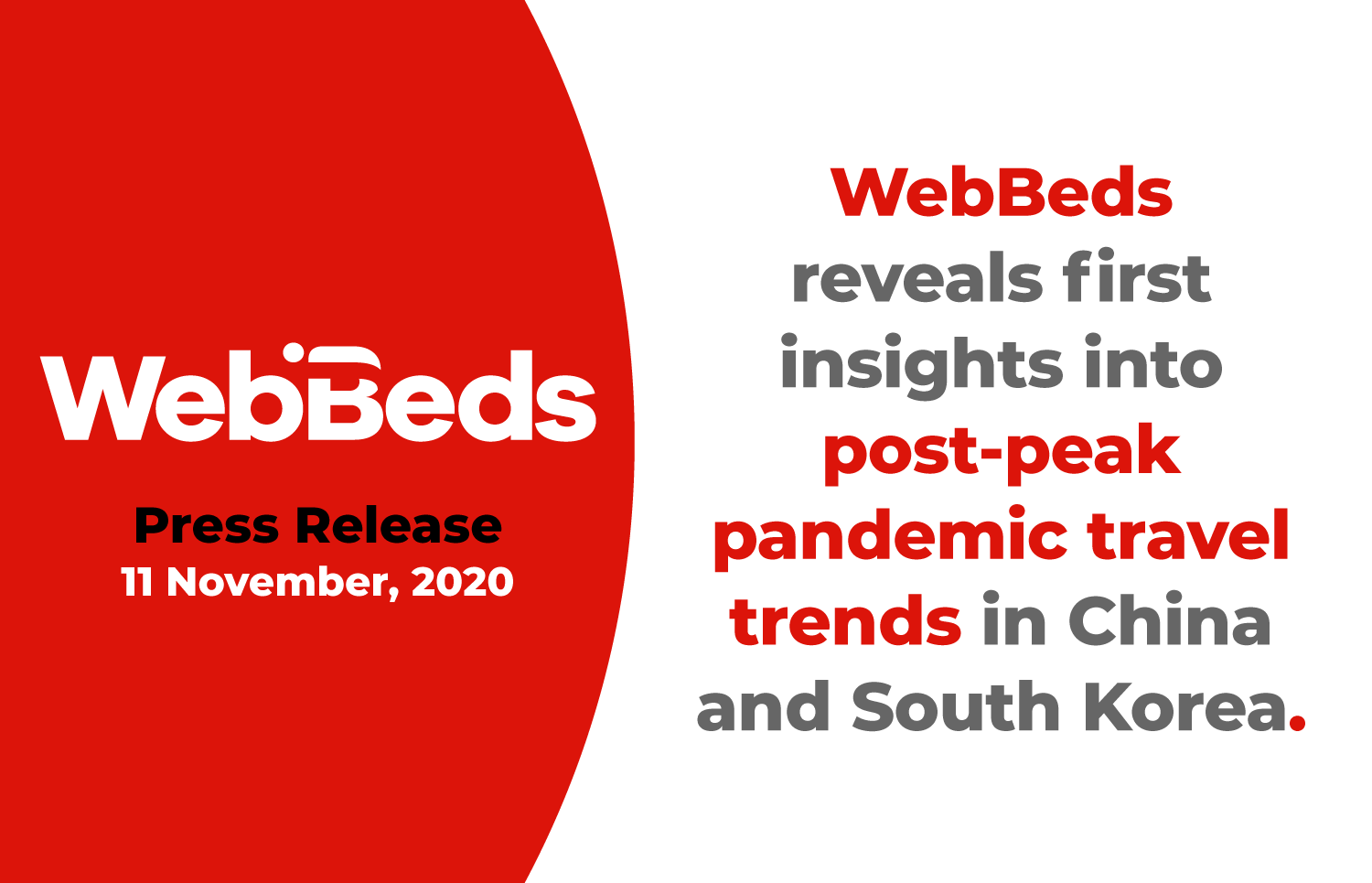 WebBeds Reveals First Insights Into Post-Peak Pandemic Travel Trends in China and South Korea